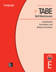 TABE Skill Workbooks Level E: Capitalization, Punctuation, and Writing Conventions (10 copies)
