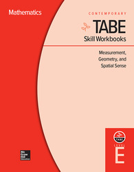 TABE Skill Workbooks Level E: Measurement, Geometry, and Spatial Sense (10 copies)