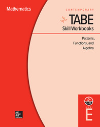 TABE Skill Workbooks Level E: Patterns, Functions, and Algebra (10 copies)