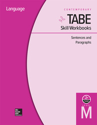 TABE Skill Workbooks Level M: Sentences and Paragraphs - 10 Pack