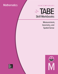 TABE Skill Workbooks Level M: Measurement, Geometry, and Spatial Sense - 10 Pack