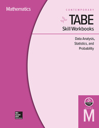TABE Skill Workbooks Level M: Data Analysis, Statistics, and Probability - 10 Pack