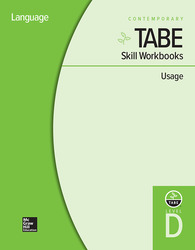 TABE Skill Workbooks Level D: Usage - 10 Pack