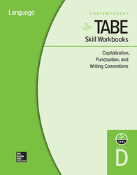 TABE Skill Workbooks Level D: Capitalization, Punctuation, and Writing Conventions - 10 Pack