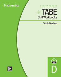 TABE Skill Workbooks Level D: Whole Numbers - 10 Pack