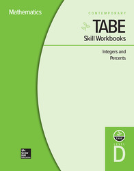 TABE Skill Workbooks Level D: Integers and Percents - 10 Pack