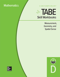 TABE Skill Workbooks Level D: Measurement, Geometry, and Spatial Sense - 10 Pack