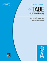 TABE Skill Workbooks Level A: Words in Context and Recall Information - 10 Pack