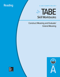 TABE Skill Workbooks Level A: Construct Meaning and Evaluate/Extend Meaning - 10 Pack