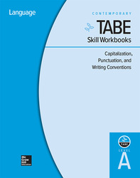 TABE Skill Workbooks Level A: Capitalization, Punctuation, and Writing Conventions - 10 Pack