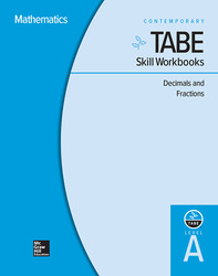 TABE Skill Workbooks Level A: Decimals and Fractions - 10 Pack