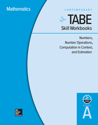 TABE Skill Workbooks Level A: Numbers, Number Operations, Computation in Context, and Estimation - 10 Pack