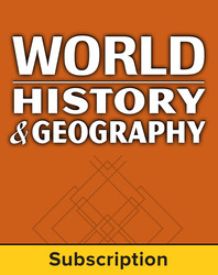 World History and Geography, Complete Classroom Set, Digital, 6 Year Subscription (set of 30)