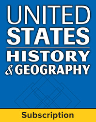 United States History and Geography,  Complete Classroom Set, Digital, 6-year subscription (set of 30)