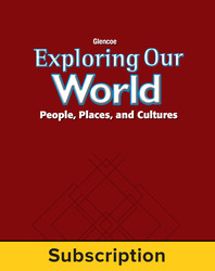 Exploring Our World: Western Hemisphere, Europe, and Russia, Online Teacher Edition with Resources, 1-Year Subscription
