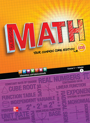 Glencoe Math, Course 3, Student Edition, Volume 1