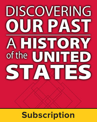 Discovering Our Past: A History of the United States-Early Years, Complete Classroom Set, Digital 1-Year Subscription