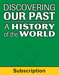 Discovering Our Past: A History of the World, Early Ages, Complete Classroom Set, Digital 1-Year Subscription