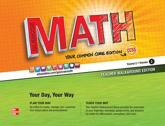 Glencoe Math, Course 2, Teacher Walkaround Edition, Volume 2