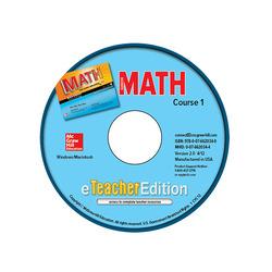 Glencoe Math, Course 1, eTeacherEdition CD-ROM