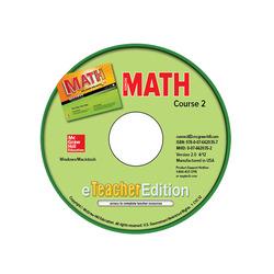 Glencoe Math, Course 2, eTeacherEdition CD-ROM
