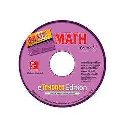 Glencoe Math, Course 3, eTeacherEdition CD-ROM