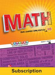 Glencoe Math, Course 3, eTeacherEdition Online, 1-year Subscription