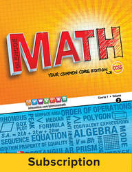 Glencoe Math, Course 1, eStudentEdition Online, 1-year Subscription
