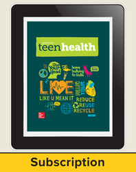 Teen Health, ConnectED Student seat, 1-year subscription