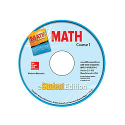 Glencoe Math, Course 1, eStudentEdition CD-ROM