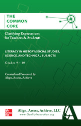 AAA The Common Core: Clarifying Expectations for Teachers and Students. Literacy in History/Social Studies, Science & Technical Subjects, Grades 9-10