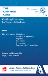 AAA The Common Core: Clarifying Expectations for Teachers and Students. Math, Grades 9-12