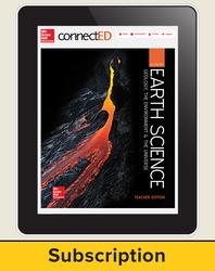 Earth Science: GUE, eTeacher Edition, 1-year subscription