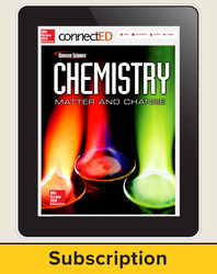 Chemistry Matter & Change, eTeacher Edition, 1-year subscription