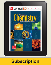 Chemistry: Concepts & Applications, eStudent Edition, 6-year subscription