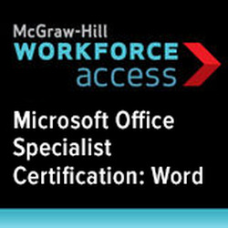 Microsoft Office Specialist Certification: Word, 1 year subscription