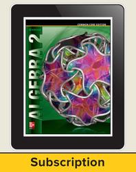 Algebra 2, eTeacherEdition Online, 1-year subscription