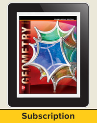 Geometry, eTeacherEdition Online, 6-year subscription