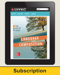 Muller, Language & Composition: The Art of Voice, 2014 1e, Connect® Composition, 6-Year Subscription