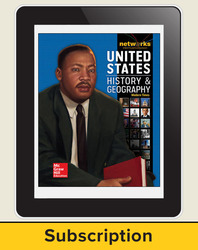 United States History and Geography: Modern Times, Teacher Lesson Center, 1-Year Subscription