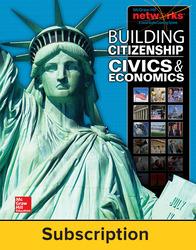 Building Citizenship: Civics and Economics, Teacher Lesson Center, 1-Year Subscription