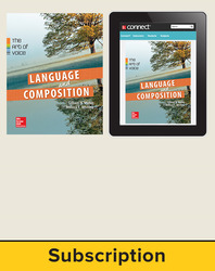 Muller, Language & Composition: The Art of Voice, 2014, 1e, Standard Student Bundle (Student Edition with Connect Composition), 6-year subscription