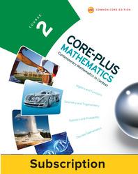 Core-Plus Mathematics Course 2, eTeacher Edition 1-year subscription