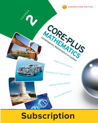 Core-Plus Mathematics Course 2, eTeacher Edition 1-year subscription