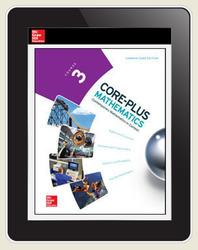 Core-Plus Mathematics Course 3, eTeacher Edition 1-year subscription