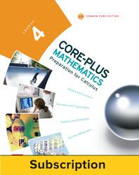 Core-Plus Mathematics Course 4, eTeacher Edition 1-year subscription
