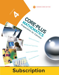 Core-Plus Mathematics Course 4, eTeacher Edition 1-year subscription