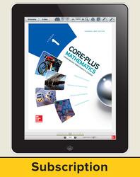 Core-Plus Mathematics Course 1, eStudent Edition 1-year subscription
