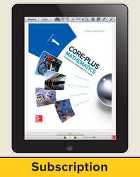 Core-Plus Mathematics Course 1, eStudent Edition 6-year subscription