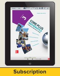 Core-Plus Mathematics Course 3, eStudent Edition 1-year subscription